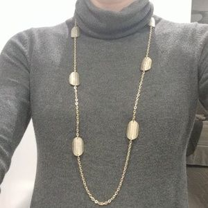 Loft long gold necklace